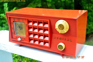 SOLD! - Oct 19, 2016 - BLUETOOTH MP3 Ready - Original Factory Cimarron Red Admiral Model 5S35N AM Tube Radio - [product_type} - Admiral - Retro Radio Farm