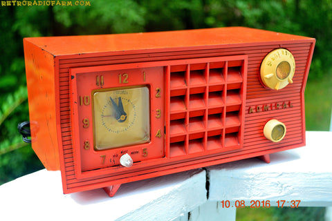 SOLD! - Oct 19, 2016 - BLUETOOTH MP3 Ready - Original Factory Cimarron Red Admiral Model 5S35N AM Tube Radio