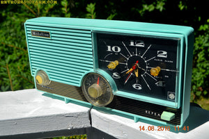 SOLD! - Jan 25, 2017 - LAGUNA AQUA Mid Century Vintage 1959 Medallion Model 5583 Tube Radio Probably Only One In Existence! - [product_type} - Medallion - Retro Radio Farm