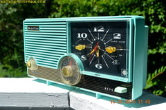 SOLD! - Jan 25, 2017 - LAGUNA AQUA Mid Century Vintage 1959 Medallion Model 5583 Tube Radio Probably Only One In Existence!