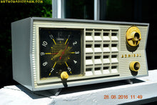 Load image into Gallery viewer, SOLD! - Nov 5, 2016 - BLUETOOTH MP3 Ready - RARE Thunderstorm Grey And White Admiral Model 5G49N AM Tube Radio Retro Mid Century Vintage Near Mint!