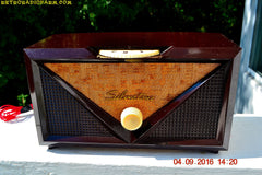 SOLD! - Oct 16, 2016 - ROCKABILLY Retro Vintage 1954 Silvertone Model 3001 AM Tube Radio Works Great!