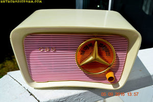 SOLD! - Oct 15, 2016 - SO JETSONS LOOKING Retro Vintage Pink and Black 1959 CBS Model 2160 AM Tube Radio So Cute! - [product_type} - Travler - Retro Radio Farm