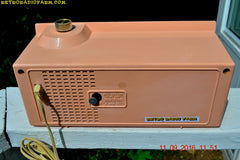 SOLD! - Oct 3, 2016 - LUSCIOUS PINK Mid Century Retro 1961 Arvin Model 53R27 AM Tube Clock Radio Works Great Looks Great!