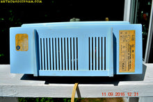 Load image into Gallery viewer, SOLD! - Sept 17, 2016 - BLUE on Blue Mid Century Retro 1963 Motorola Model C19B60 Tube AM Clock Radio Totally Restored!