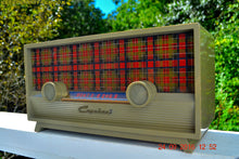 Load image into Gallery viewer, SOLD! - Oct 19, 2017 - SCOTTISH TARTAN Khaki Green Retro Vintage 1954 Capehart Model T-54 AM Tube Radio Totally Restored!