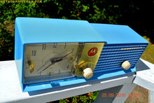 Load image into Gallery viewer, SOLD! - Apr 15, 2017 - CORNFLOWER BLUE Bi-level Retro Jetsons 1957 Motorola 57CD Tube AM Clock Radio Some Issues - [product_type} - Motorola - Retro Radio Farm