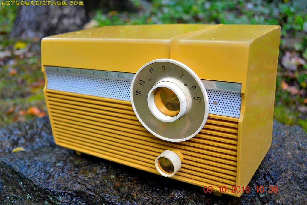 maize yellow mid century jet age retro 1959 philco model e 812 124