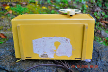 Load image into Gallery viewer, SOLD! - July 30, 2017 - MAIZE YELLOW Mid Century Jet Age Retro 1959 Philco Model E-812-124 Tube AM Radio Totally Awesome!!