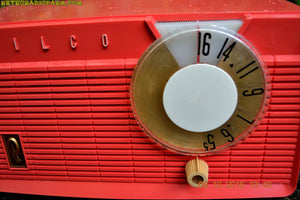 SOLD! - May 31, 2019 - Coral Pink Mid Century Retro Antique 1958 Philco Model F815-124 Tube AM Radio Totally Restored! - [product_type} - Philco - Retro Radio Farm