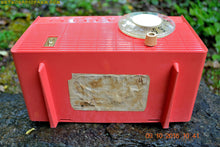 Load image into Gallery viewer, Coral Pink Mid Century Retro Antique 1958 Philco Model F815-124 Tube AM Radio Totally Restored! - [product_type} - Philco - Retro Radio Farm