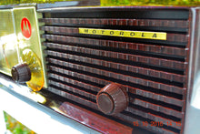 Load image into Gallery viewer, SOLD! - Dec 17, 2016 - IMMACULATE Expresso Bi-level Retro Jetsons 1957 Motorola 57CD Tube AM Clock Radio Pristine! - [product_type} - Motorola - Retro Radio Farm