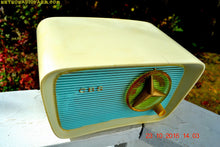 Load image into Gallery viewer, SOLD! - Jan 30, 2017 - SO JETSONS LOOKING Retro Vintage Turquoise and White 1959 CBS Model T201 AM Tube Radio So Cute! - [product_type} - CBS - Retro Radio Farm