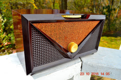 ROCKABILLY Retro Vintage 1954 Silvertone Model 3001 AM Tube Radio Works Great!