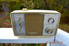 SOLD! - Apr 15, 2017 - GOLD and Ivory Mid Century Retro Vintage 1966 Magnavox Model C006 Mardi Gras Tube Clock Radio Kinda Rough Shape