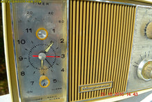 Load image into Gallery viewer, SOLD! - Apr 15, 2017 - GOLD and Ivory Mid Century Retro Vintage 1966 Magnavox Model C006 Mardi Gras Tube Clock Radio Kinda Rough Shape - [product_type} - Magnavox - Retro Radio Farm