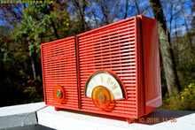 Load image into Gallery viewer, SOLD! - Oct 28, 2016 - WACKY LOOKING Coral Mid Century Retro Jetsons Vintage 1957 Philco H826-124 AM Tube Radio Works Great!