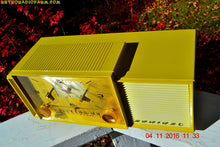 Load image into Gallery viewer, SOLD! - Feb 8, 2017 - AUTUMN GOLD Retro Jetsons 1959 Admiral 296 Tube AM Clock Radio Sounds Great! Rare Color! - [product_type} - Admiral - Retro Radio Farm