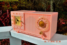 Load image into Gallery viewer, SOLD! - Nov 7, 2016 - PARK AVE PINK Mid Century Retro Jetsons 1956 New Yorker AM Clock Radio Marilyn Approves!