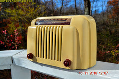 SOLD! - Dec 3, 2016 - SMART LOOKING 1947 Ivory Bendix Aviation Model 110W Bakelite AM Tube AM Radio Works Great!