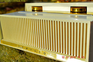 SOLD! - Dec 25, 2016 - PLAN 9 FROM OUTER SPACE 1958 Philco Predicta Model H765-124 Tube AM Clock Radio - Iconic~! - [product_type} - Philco - Retro Radio Farm