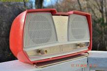 Load image into Gallery viewer, SOLD! - Feb 14, 2017 - SALMON Pink Mid Century Retro Jetsons Philips Twintone AM Vacuum Tube Radio Totally Restored! - [product_type} - Philips - Retro Radio Farm