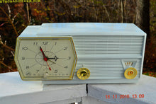 Load image into Gallery viewer, Paper White RCA Victor 8-C-5E Clock Radio 1959 Tube AM Clock Radio - [product_type} - RCA Victor - Retro Radio Farm