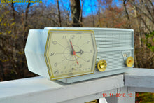 Load image into Gallery viewer, SOLD! - Oct. 25, 2018 - Paper White RCA Victor 8-C-5E Clock Radio 1959 Tube AM Clock Radio - [product_type} - RCA Victor - Retro Radio Farm