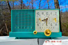 Load image into Gallery viewer, SOLD! - Nov 14, 2017 - REAL TEAL DEAL Mid-Century Retro Vintage 1959 Philco Model F-752-124 AM Tube Clock Radio Totally Restored! - [product_type} - Philco - Retro Radio Farm