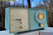 Load image into Gallery viewer, SOLD! - Nov 26, 2016 - BLUETOOTH MP3 READY - Powder Blue Mid Century Jetsons 1959 General Electric Model C-404B Tube AM Clock Radio Near Mint! - [product_type} - General Electric - Retro Radio Farm
