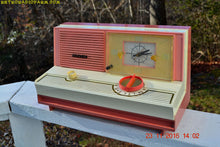 Load image into Gallery viewer, SOLD! - May 16, 2017 - DUSTY ROSE METALLIC and PINK Mid Century Retro Jetsons Vintage 1960 Sylvania Model 5C12 AM Tube Clock Radio Unique Works Great!