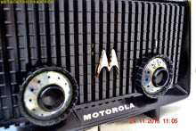 Load image into Gallery viewer, SOLD! - Dec 4, 2016 - GLOSS BLACK Mid Century Vintage Antique 1957 Motorola 56R AM Tube Radio Works Great! - [product_type} - Motorola - Retro Radio Farm