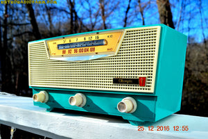 SOLD! - Mar 30, 2017 - AQUAMARINE AM/FM Retro Vintage Mid Century Olympic Model FM-15 Tube Radio Rare, Functional and Near Mint Condition! - [product_type} - Olympic - Retro Radio Farm