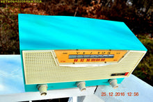 Load image into Gallery viewer, SOLD! - Mar 30, 2017 - AQUAMARINE AM/FM Retro Vintage Mid Century Olympic Model FM-15 Tube Radio Rare, Functional and Near Mint Condition! - [product_type} - Olympic - Retro Radio Farm