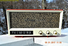 Load image into Gallery viewer, SOLD! - Sept 1, 2017 - CORAL PINK Mid Century Vintage 1959 Arvin Model 2585 Tube Radio Almost Mint and Very Sweet! - [product_type} - Arvin - Retro Radio Farm