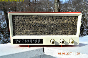 SOLD! - Sept 1, 2017 - CORAL PINK Mid Century Vintage 1959 Arvin Model 2585 Tube Radio Almost Mint and Very Sweet! - [product_type} - Arvin - Retro Radio Farm
