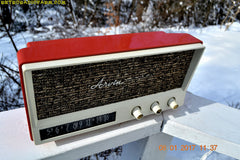 CORAL PINK Mid Century Vintage 1959 Arvin Model 2585 Tube Radio Almost Mint and Very Sweet!