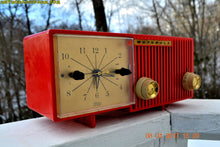Load image into Gallery viewer, SOLD! - Apr 28, 2017 - CARDINAL Red Retro Jetsons 1957 Motorola Model 56CS34 Tube AM Clock Radio Totally Restored! - [product_type} - Motorola - Retro Radio Farm
