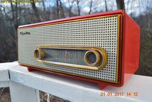 Load image into Gallery viewer, SOLD! - Mar 6, 2017 - TORCH RED Mid Century 1959 Crosley Ranchero T-60 RD AM Tube Radio NEAR MINT Quality Construction Sounds Great!