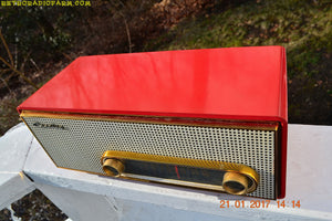 SOLD! - Mar 6, 2017 - TORCH RED Mid Century 1959 Crosley Ranchero T-60 RD AM Tube Radio NEAR MINT Quality Construction Sounds Great!