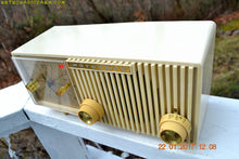 Load image into Gallery viewer, SOLD! - Aug 21, 2018 - IVORY Mid Century Retro Vintage Antique Motorola 1957 Model 57CF1 Clock Radio Tube AM Clock Radio Near Mint! - [product_type} - Motorola - Retro Radio Farm