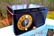Load image into Gallery viewer, SOLD! - Jan 30, 2017 - BLUETOOTH MP3 READY - Art Deco 1951 General Electric Model 512F AM Brown Bakelite Tube Clock Radio Pristine! - [product_type} - General Electric - Retro Radio Farm