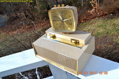 PLAN 9 FROM OUTER SPACE 1960 Philco Predicta Model J775-124 Tube AM Clock Radio Works!