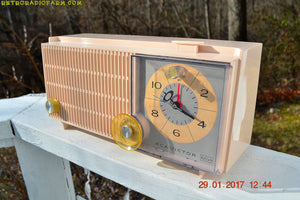 SOLD! - Dec 15, 2017 - ROSE PINK Mid Century Vintage Retro Antique 1962 RCA Victor Model RGD20R Tube AM Clock Radio Sounds Great! - [product_type} - RCA Victor - Retro Radio Farm