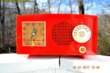 Load image into Gallery viewer, SOLD! - Feb 17, 2017 - RED HOT RED Mid Century Retro Vintage 1954 General Electric Model 556 AM Tube Radio Absolutely Pristine! - [product_type} - General Electric - Retro Radio Farm