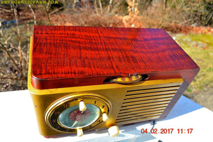 SOLD! - March 3, 2017 - BLUETOOTH MP3 READY - BURLED TOP Art Deco 1952 General Electric Model 521F AM Brown Bakelite Tube Clock Radio - [product_type} - General Electric - Retro Radio Farm