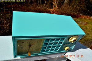 SOLD! - Feb 8, 2017 - BLUETOOTH MP3 READY - Pistachio Green Antique Mid Century Vintage 1955 Admiral 251 AM Tube Radio Totally Restored! - [product_type} - Admiral - Retro Radio Farm