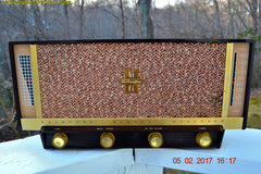 SOLD! - Feb 8, 2017 - BLUETOOTH MP3 READY - BROWN DELUXE Mid Century Retro Antique Vintage 1957 Silvertone Model 11 AM Tube Radio Totally Restored!