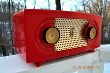 Load image into Gallery viewer, SOLD! - Dec 6, 2017 - CANDY APPLE RED Mid Century Retro Jetsons Vintage 1955 Zenith Model R511-F AM Tube Radio Excellent Condition! - [product_type} - Zenith - Retro Radio Farm