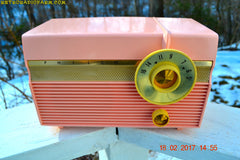 SOLD! - Feb 21, 2017 - MADISON PINK Mid Century Jet Age Retro 1959 Philco Model F813-124 Tube AM Radio Totally Awesome!!
